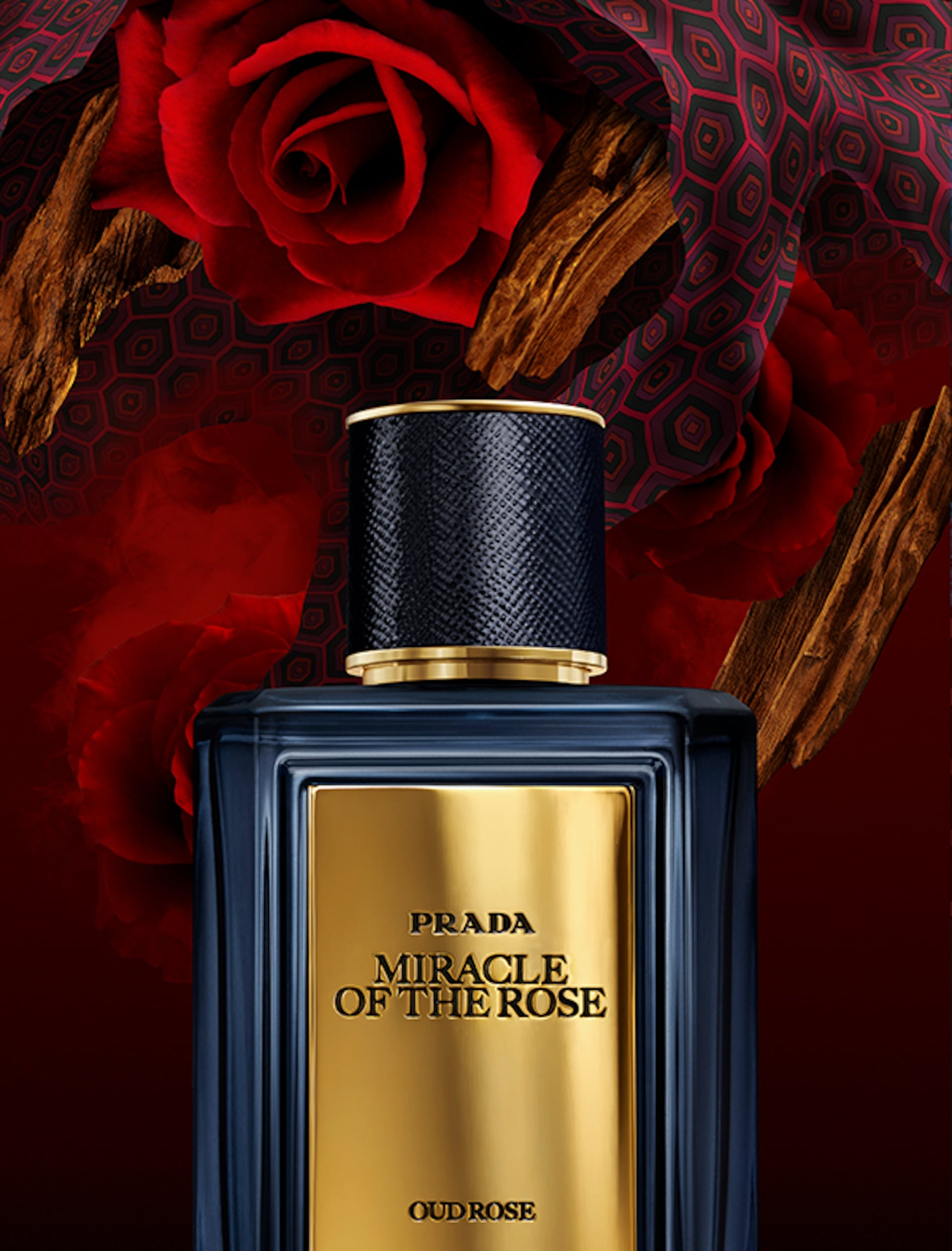 Prada Miracle of the Rose fragrance graphics