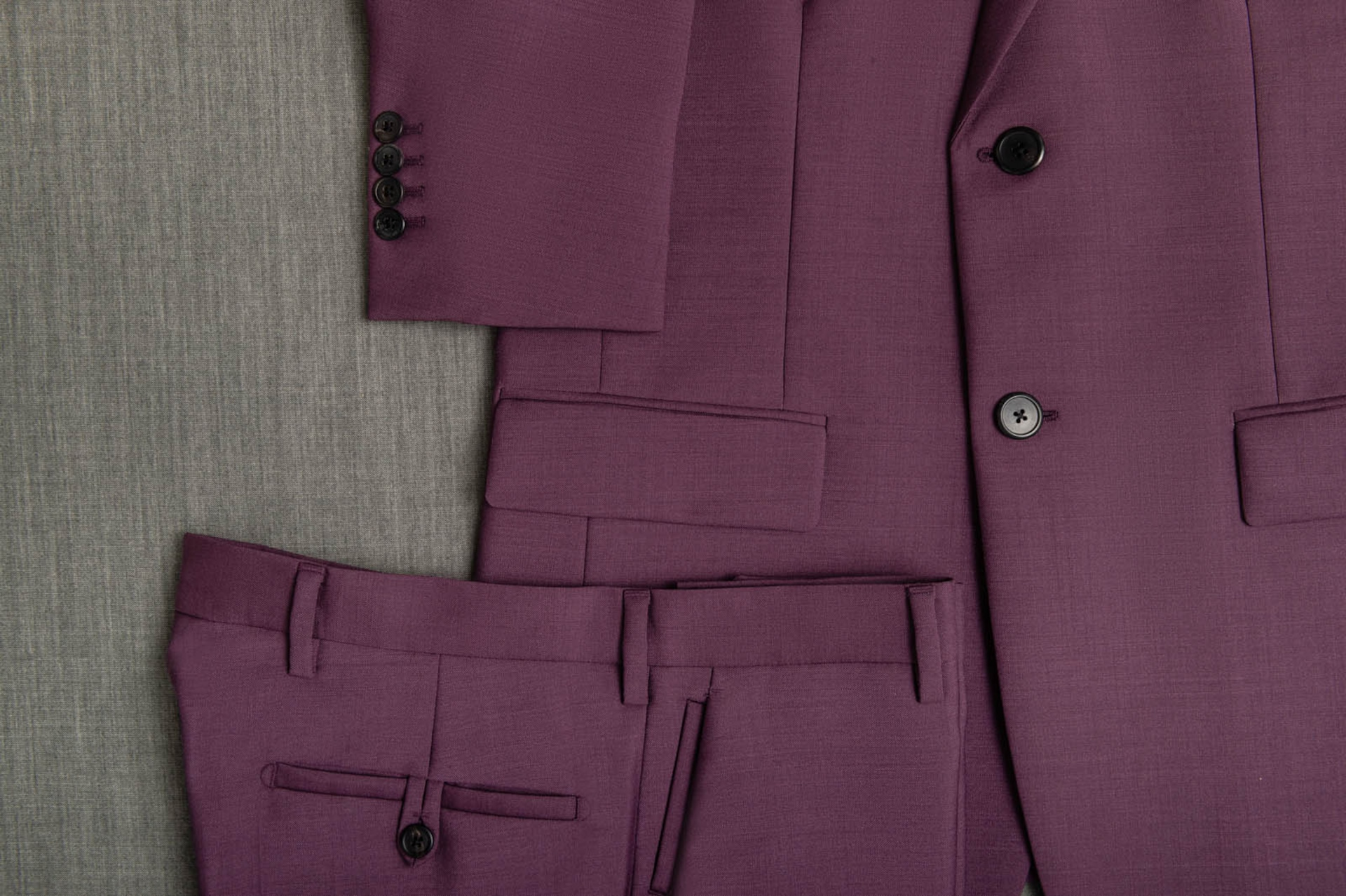 Made to measure suit details