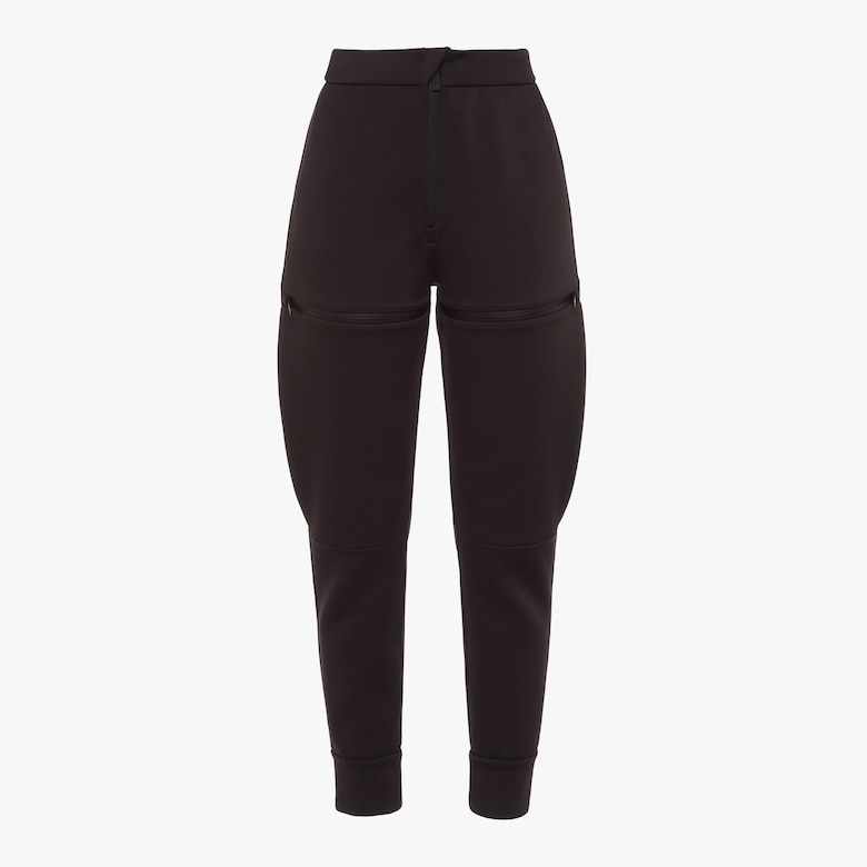 Double technical jersey trousers