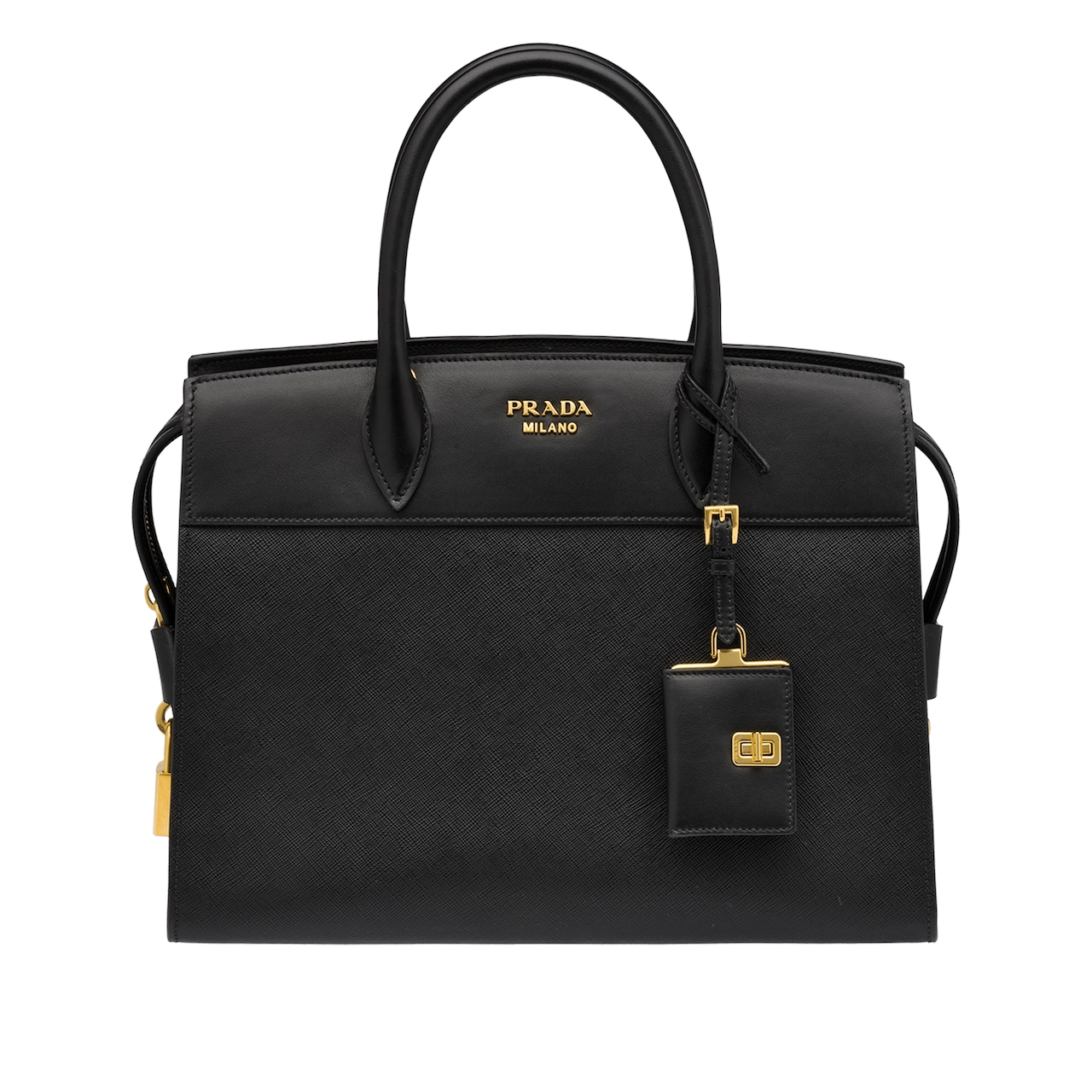 e03956fadd1366 Esplanade leather bag | Prada - 1BA047_2EVU_F0002_V_OOO