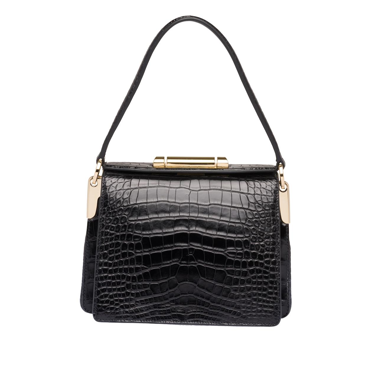 Prada Sybille crocodile leather bag