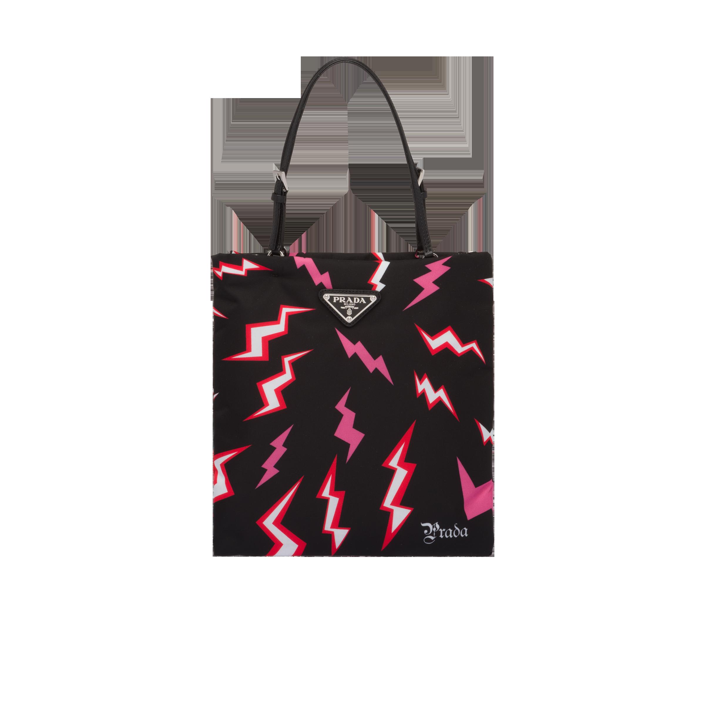c47575db4b Lightning print nylon handbag