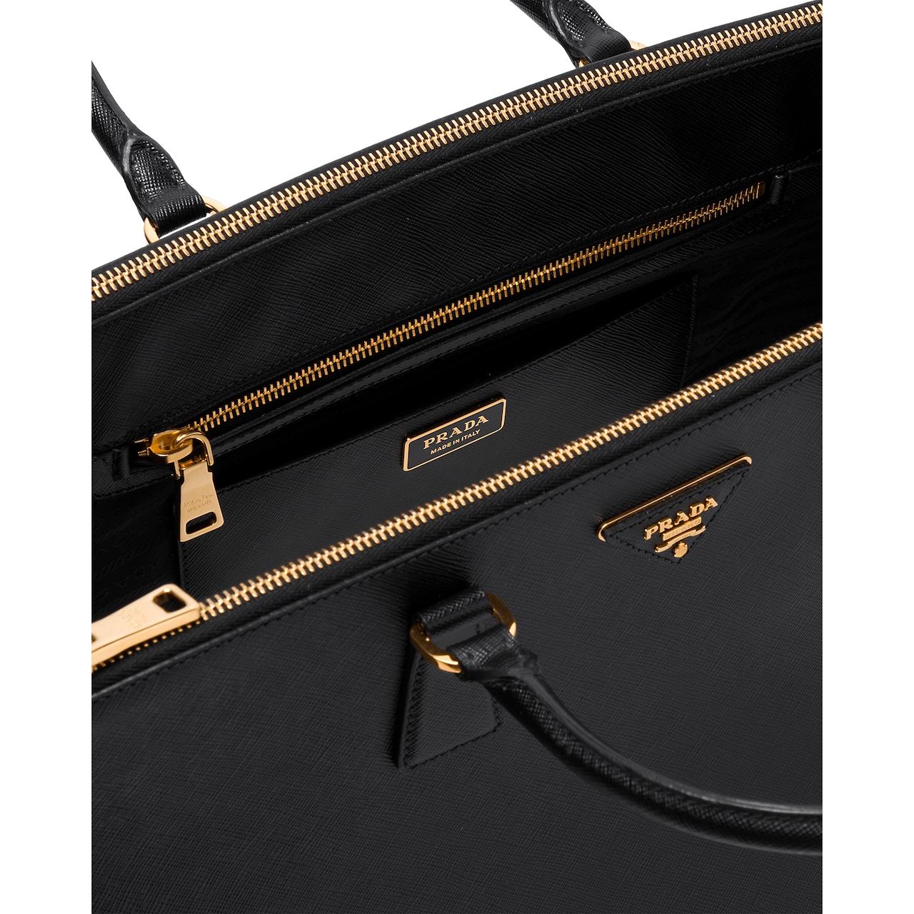 Maxi sac Prada Galleria en cuir Saffiano