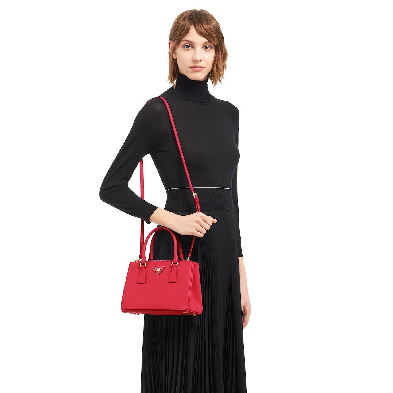 Prada Galleria Mini Saffiano Leather Bag