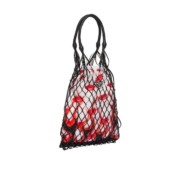 Printed fabric and mesh bag