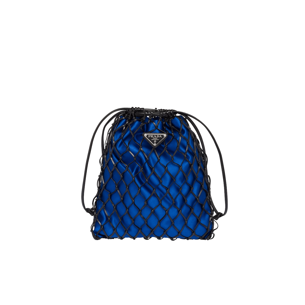 2dcaf1d84a4a Mesh and satin clutch
