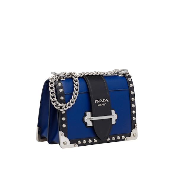 Prada Cahier studded leather bag