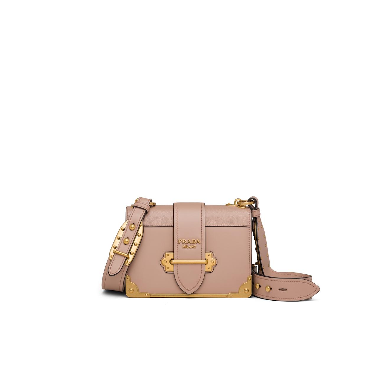 Prada Prada Cahier leather shoulder bag 1