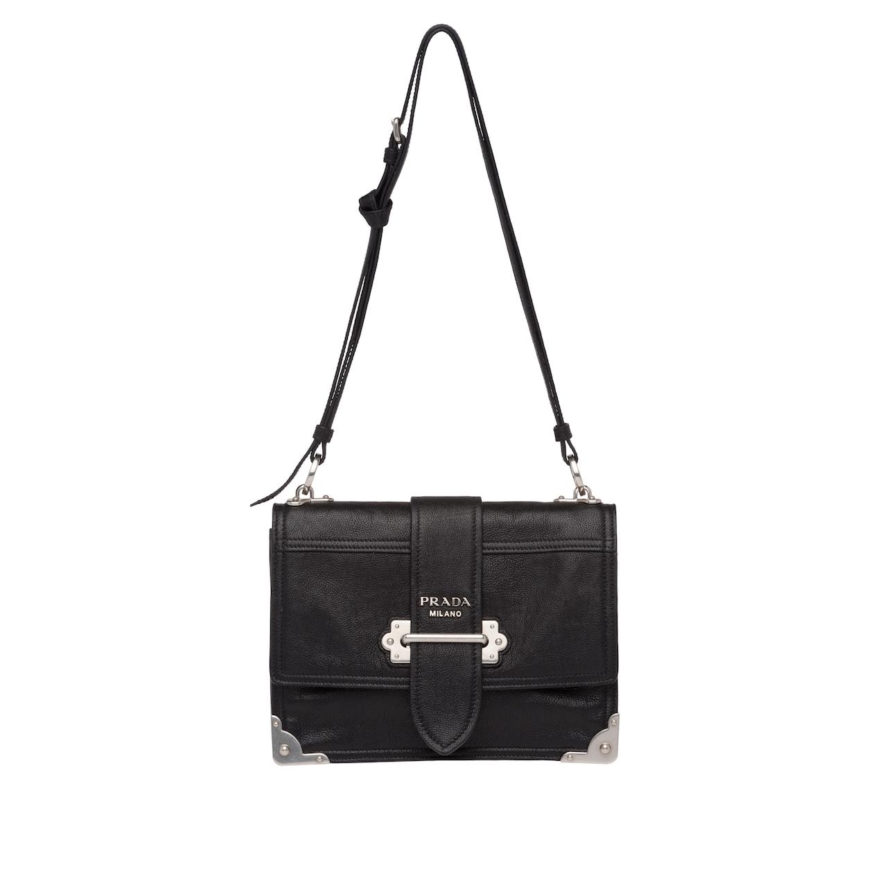 Prada Cahier leather shoulder bag