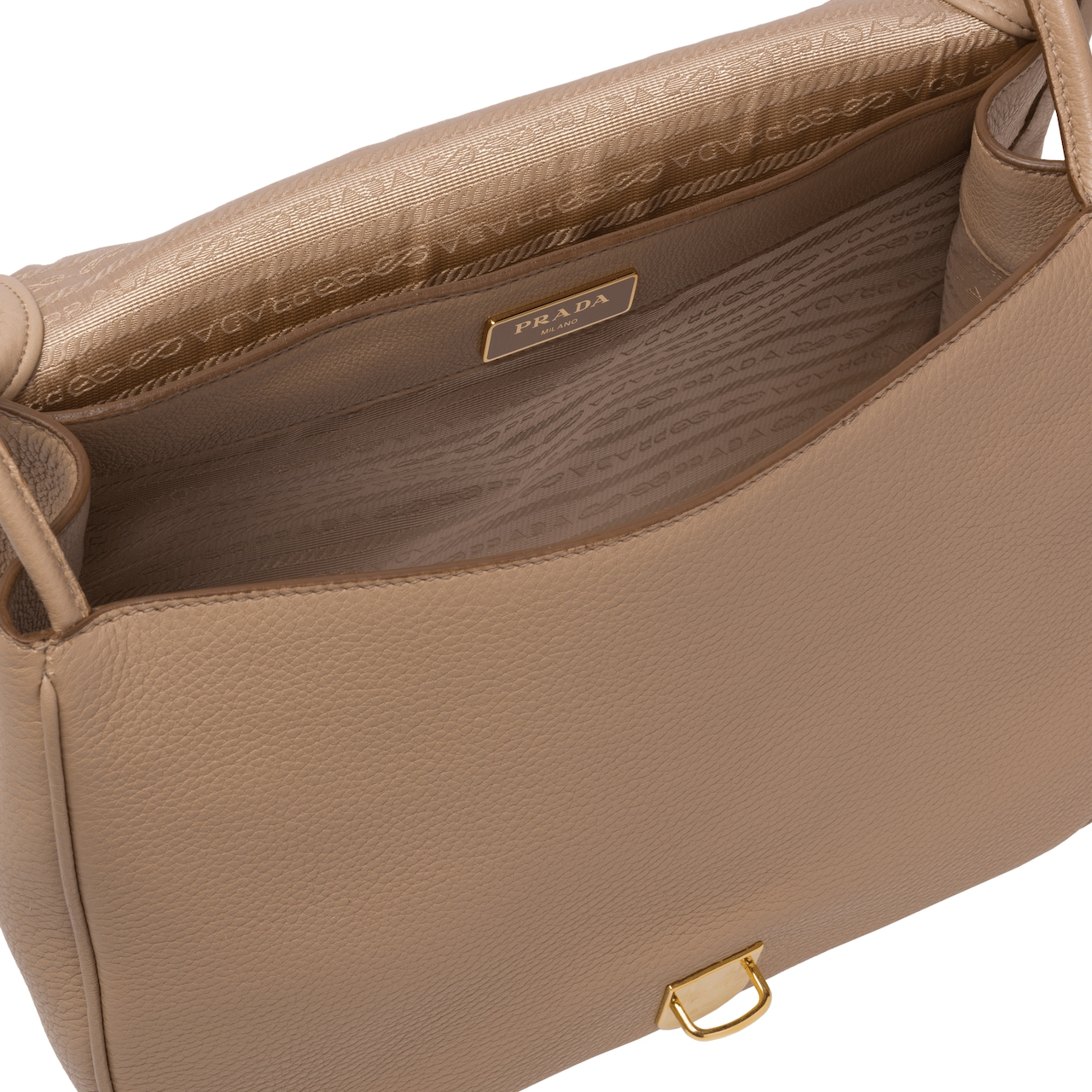 Calf leather shoulder bag
