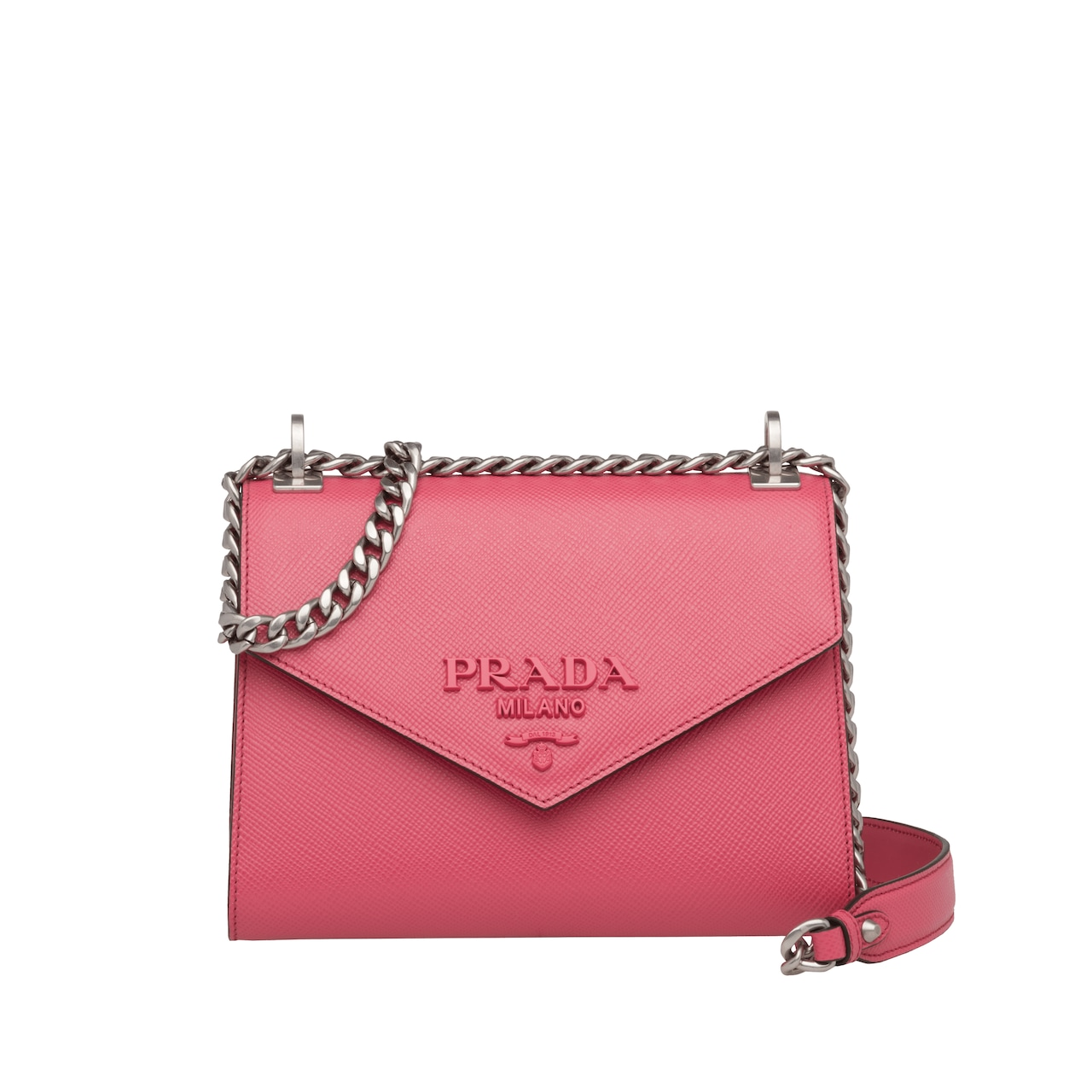Prada Monochrome Saffiano leather bag