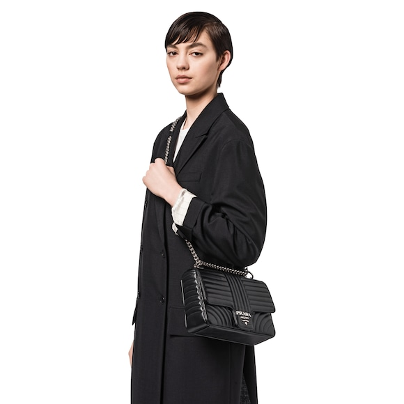 770da5df770 Prada Diagramme leather shoulder bag