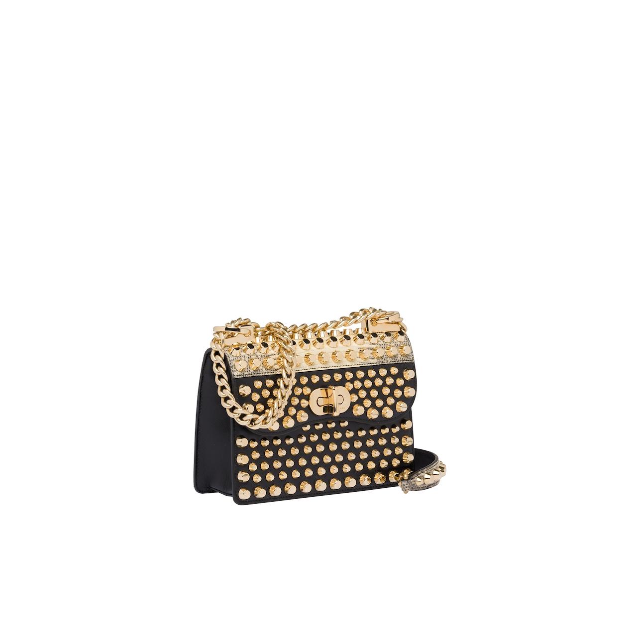 Prada Belle studded leather bag