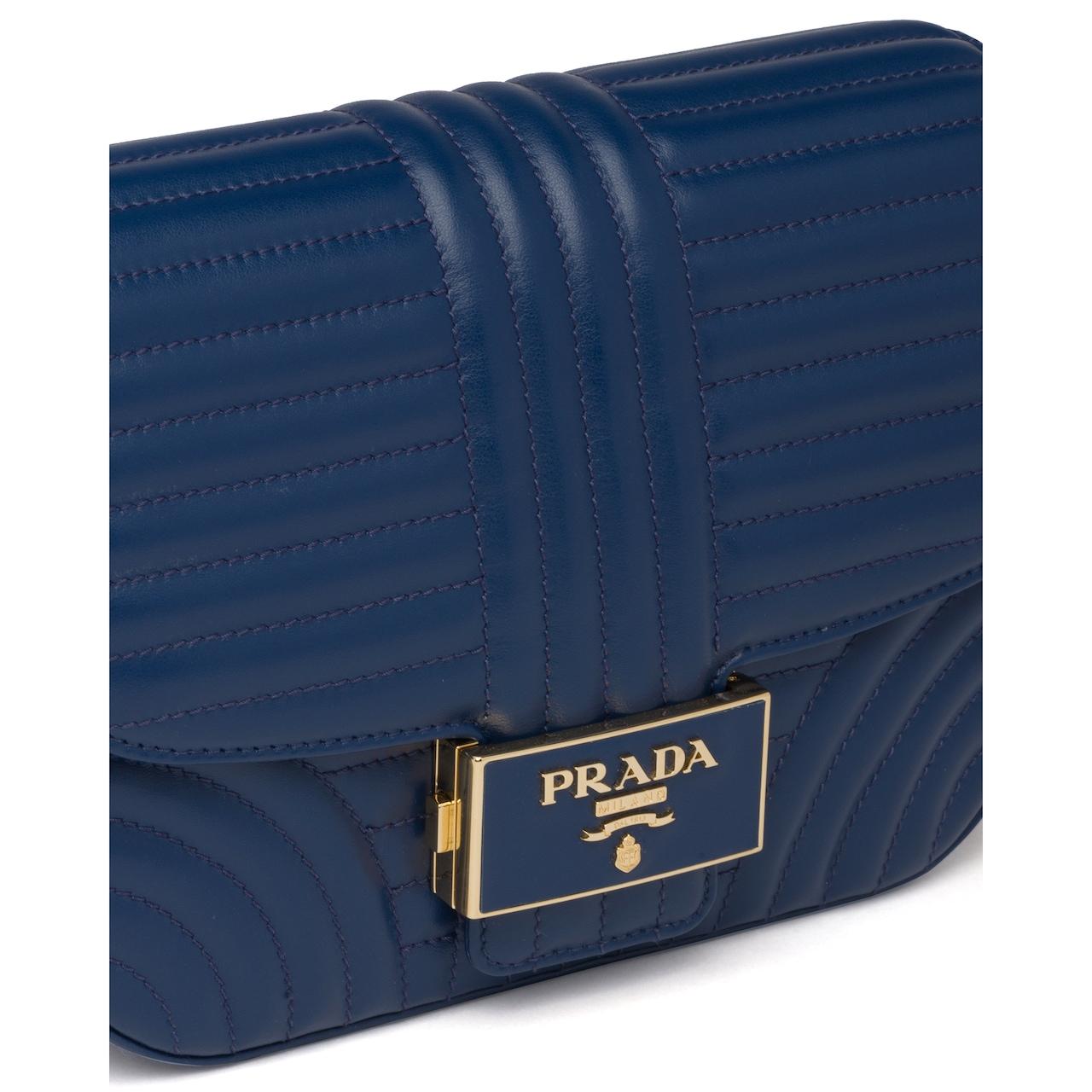 Prada Stitched leather shoulder bag 6