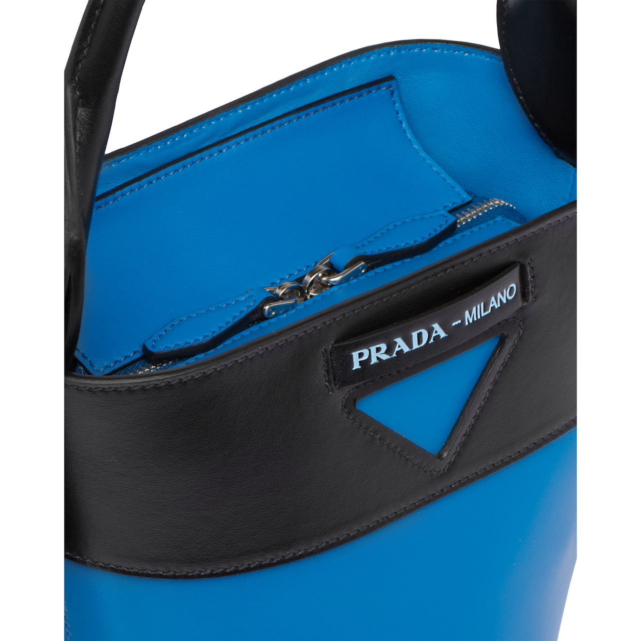 6be8166c39 Prada Ouverture leather bucket bag