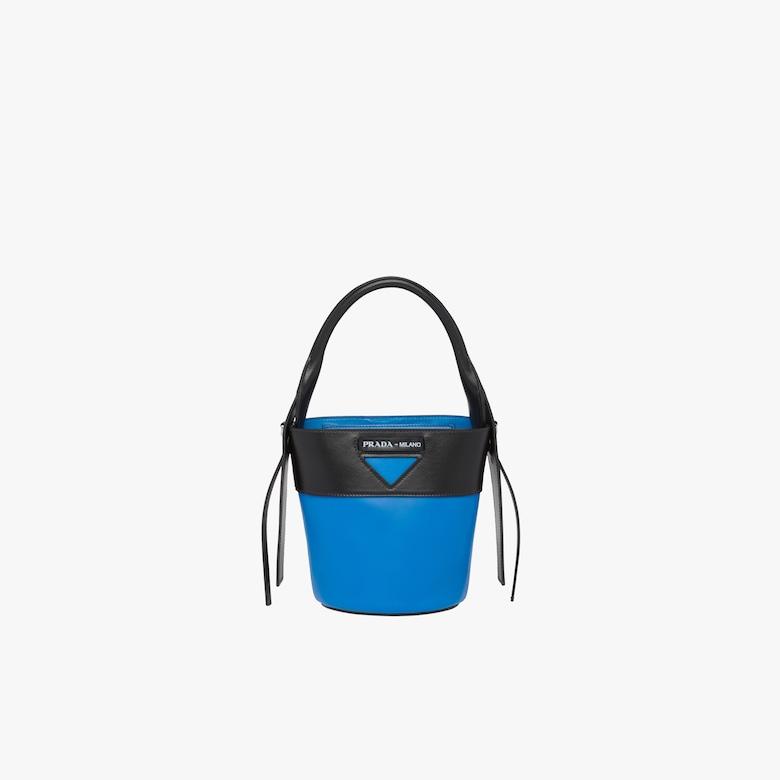 Prada Ouverture leather bucket bag