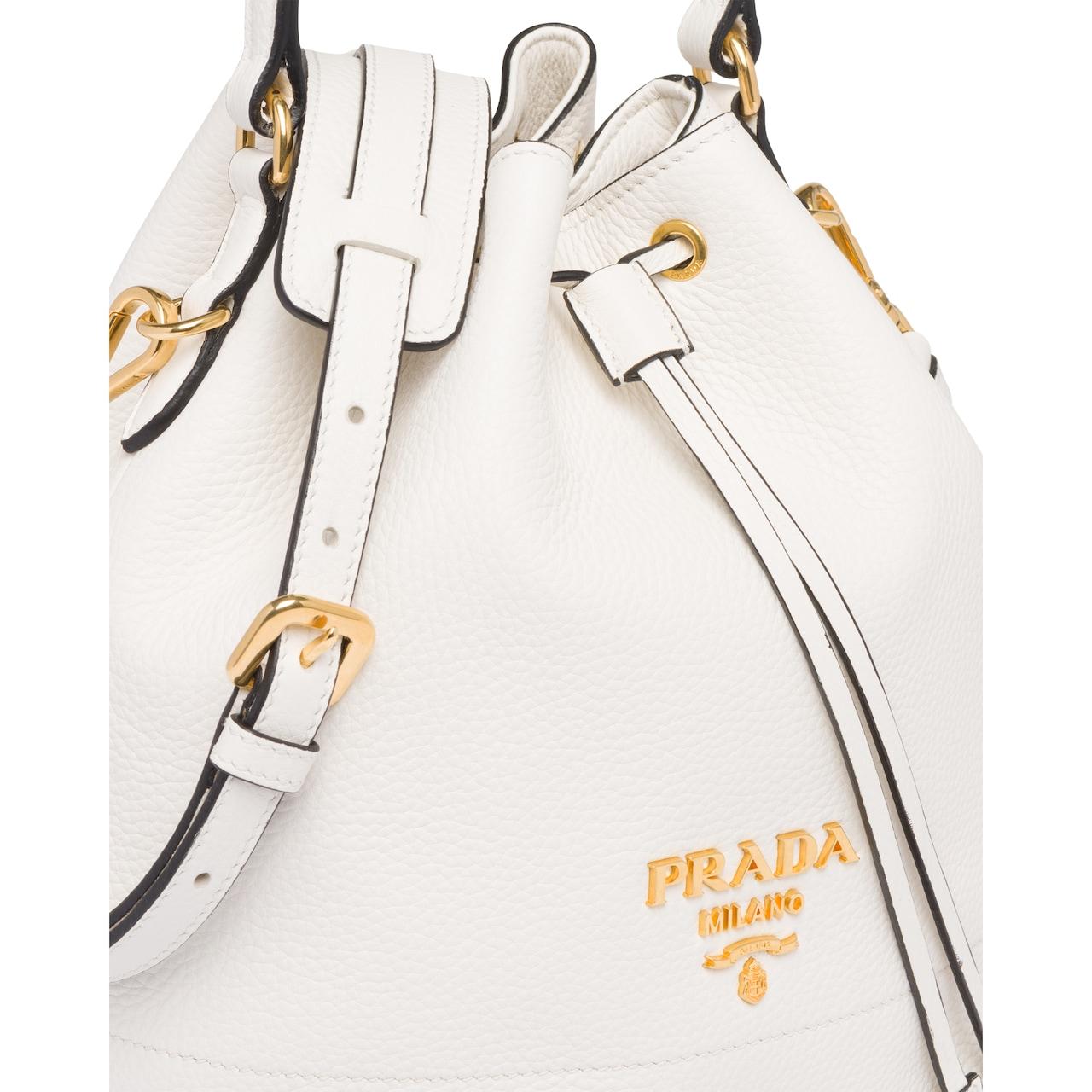 Prada Leather bucket bag 6