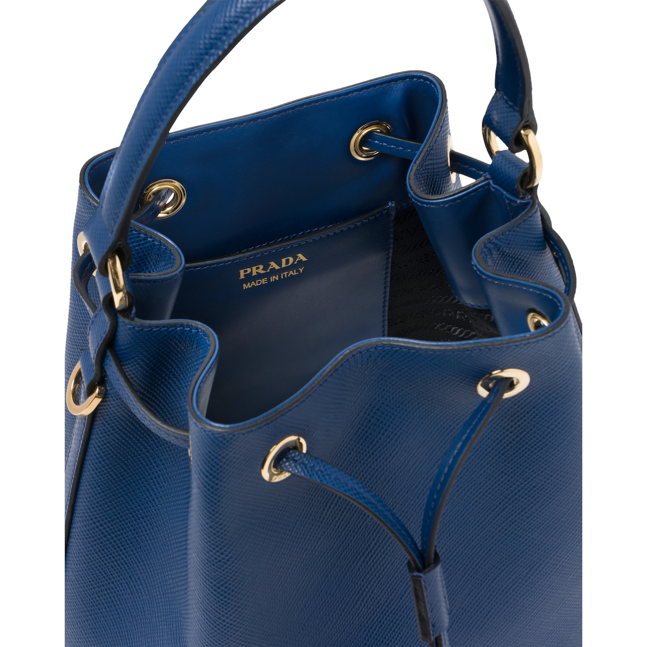 Saffiano leather bucket bag 5