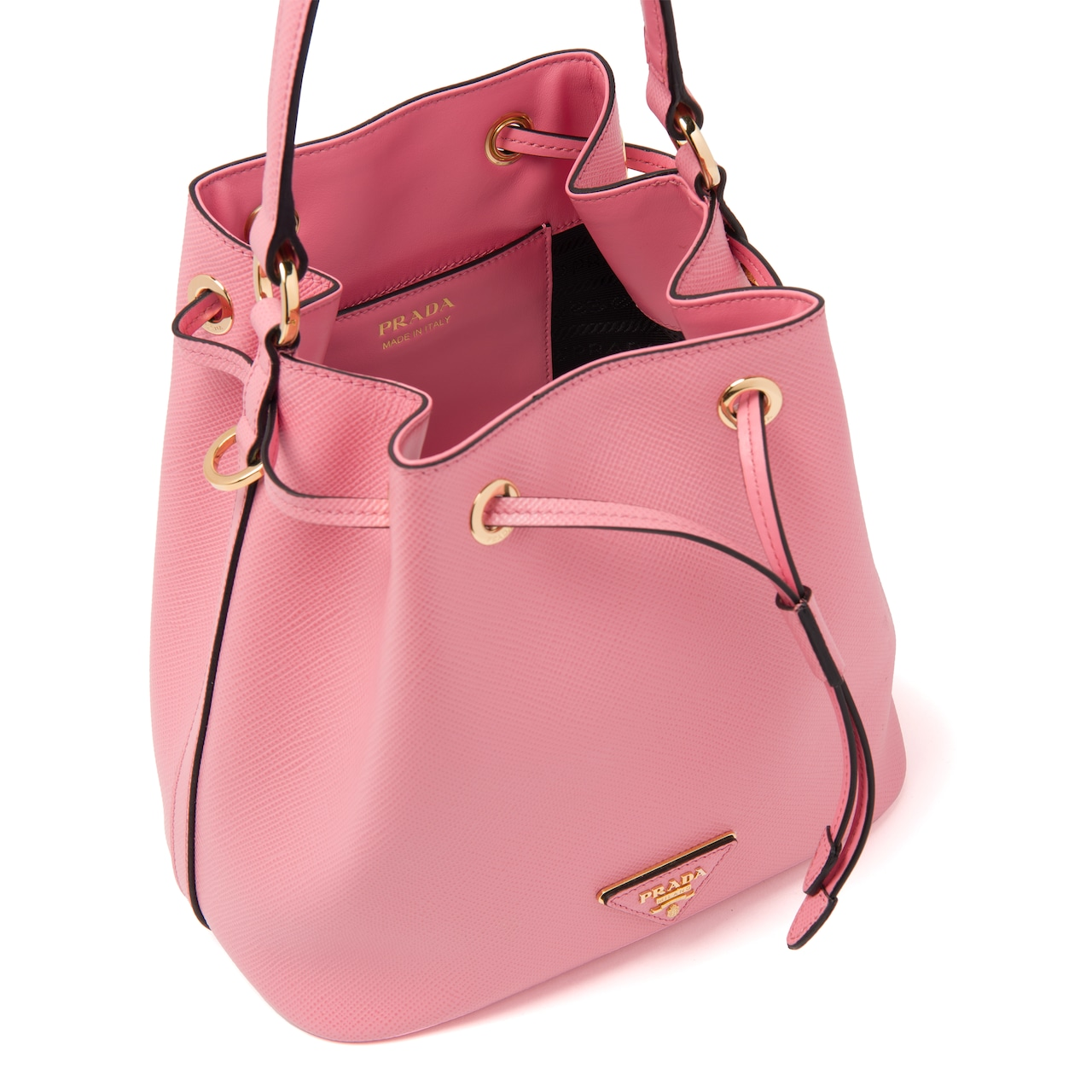 Prada Saffiano leather bucket bag 5