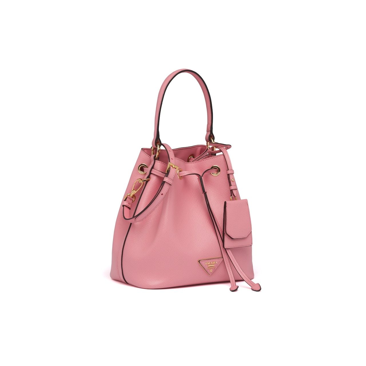 Prada Saffiano leather bucket bag 3