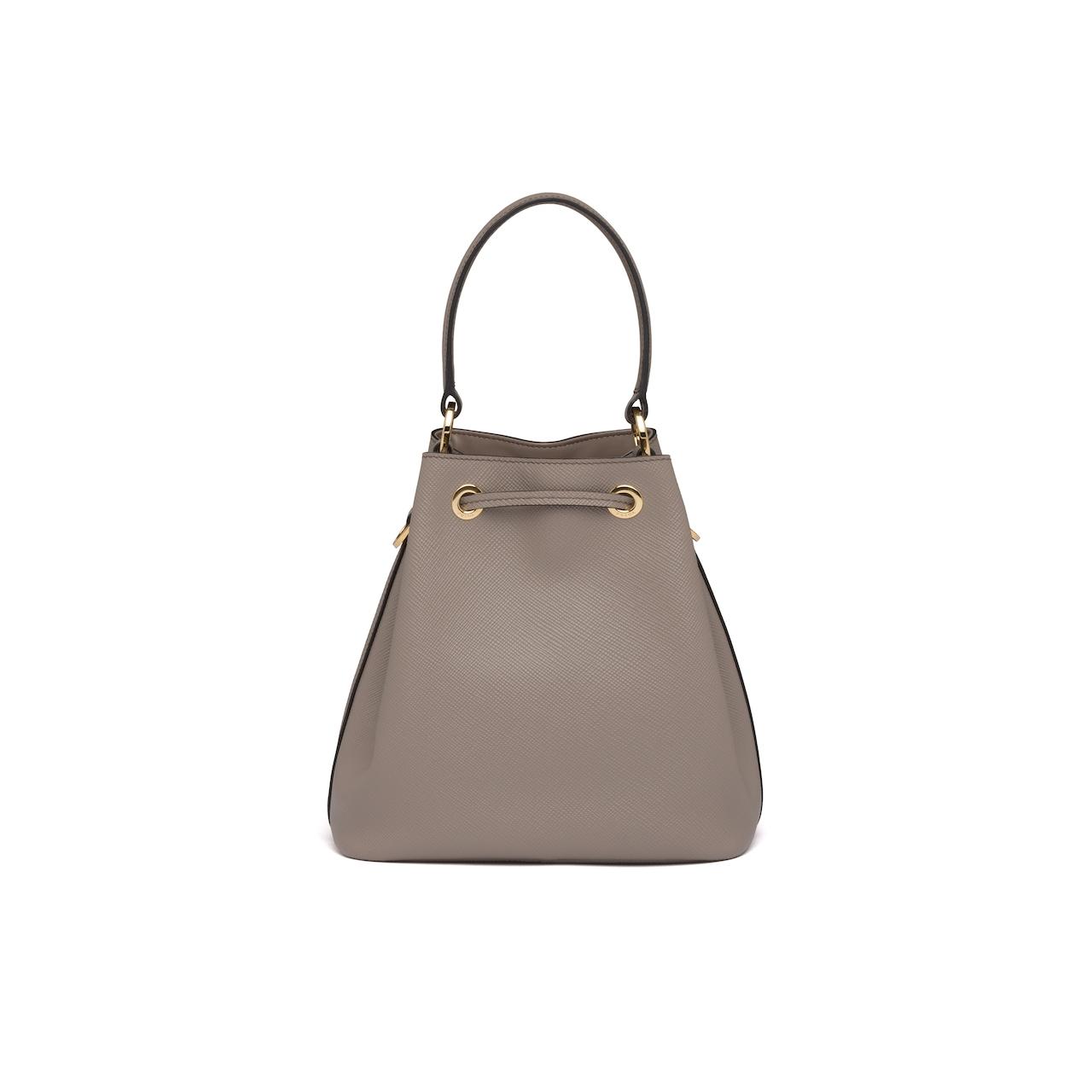 Saffiano leather bucket bag