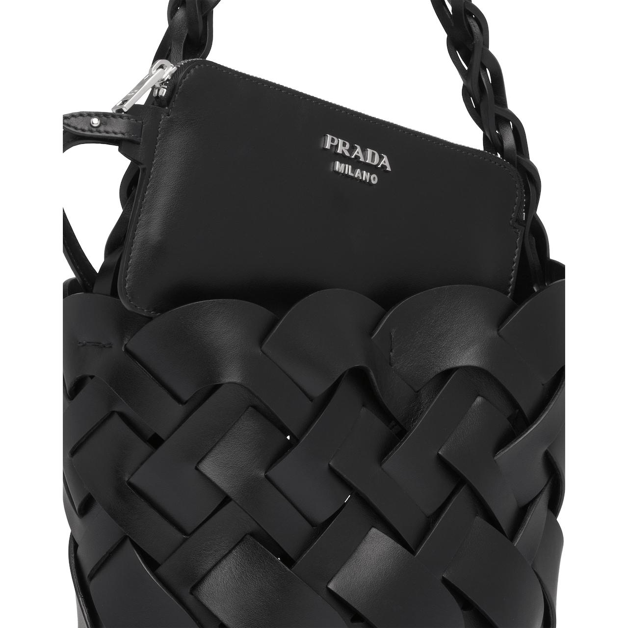 Prada Bucket bag with large woven motif 5