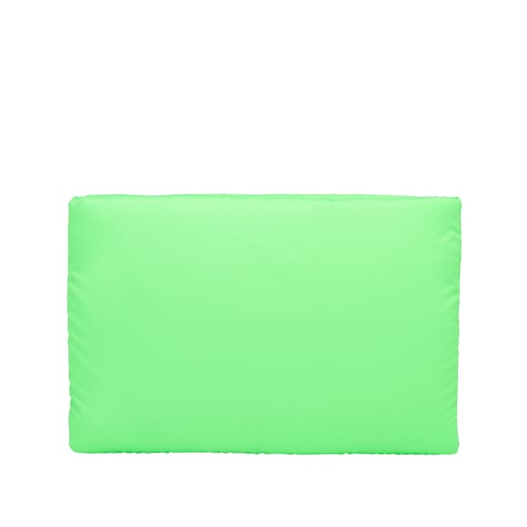 Large padded nylon clutch