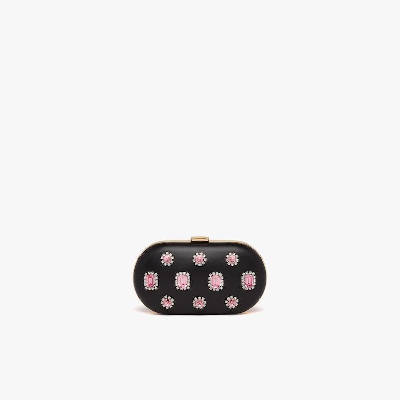 Prada Nappa leather clutch with jewel appliqués - Woman