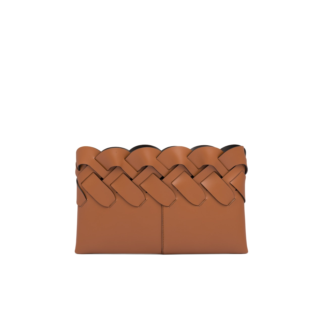 Prada Leather clutch with large woven motif 4
