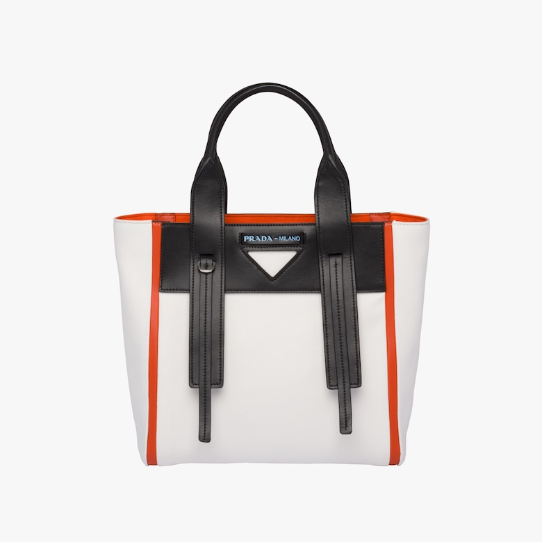 Prada Ouverture canvas and leather bag