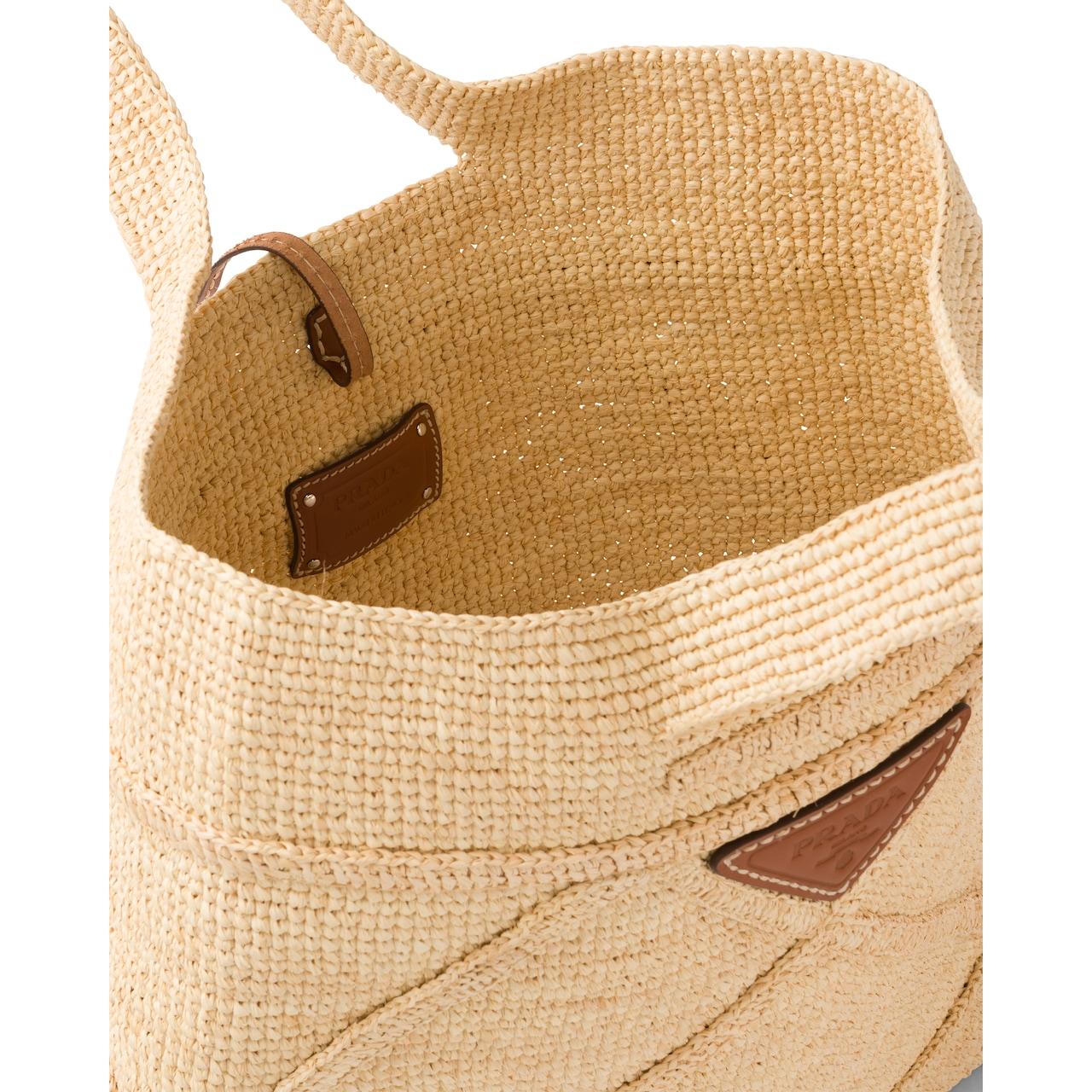 Prada 酒椰纤维手提包 5