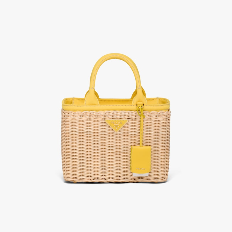 Prada Wicker and canvas handbag - Woman