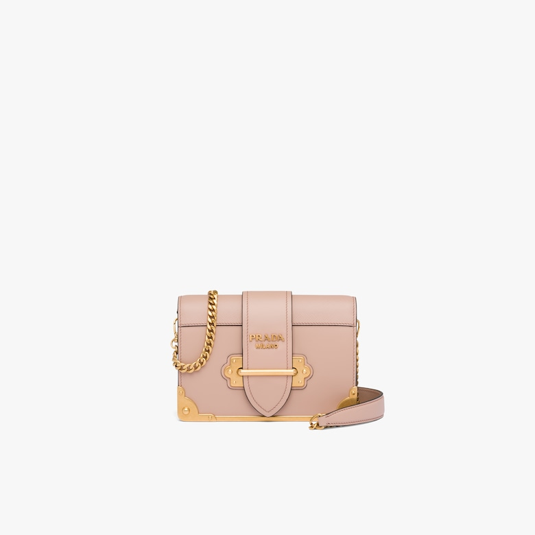 Prada Leather Prada Cahier Bag - Woman