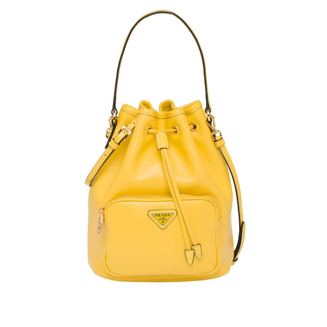 2c5a3201b2e85f Leather bucket bag | Prada - 1BH038_2CCC_F0377_V_OOM