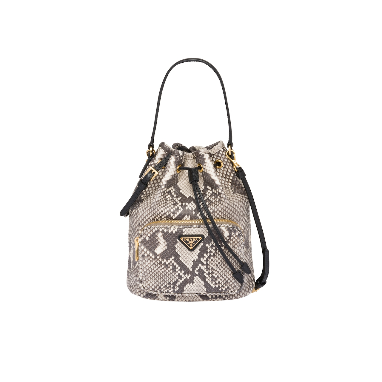 15c2029afc0a Python and Saffiano leather bucket bag