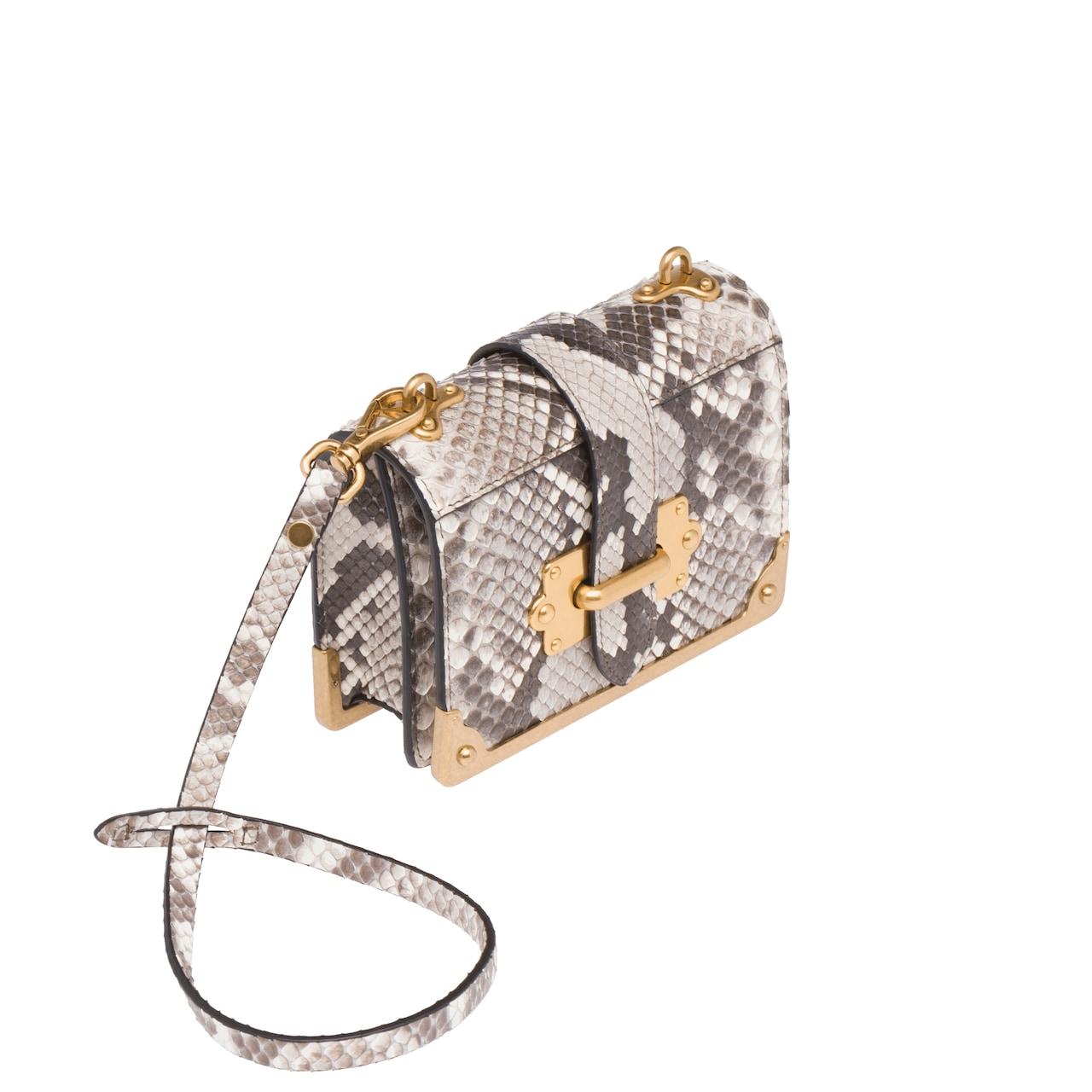 bfbec7644500 Prada Micro Cahier Python Bag