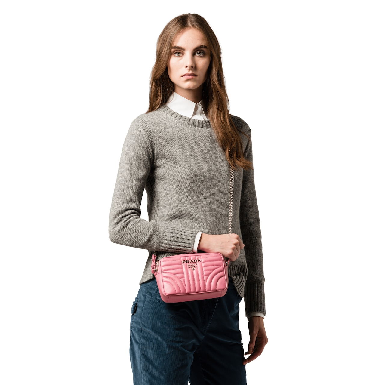 23d79682c47 Prada Diagramme leather cross-body bag