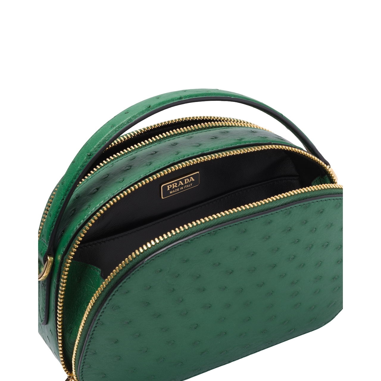 Prada Odette ostrich leather bag