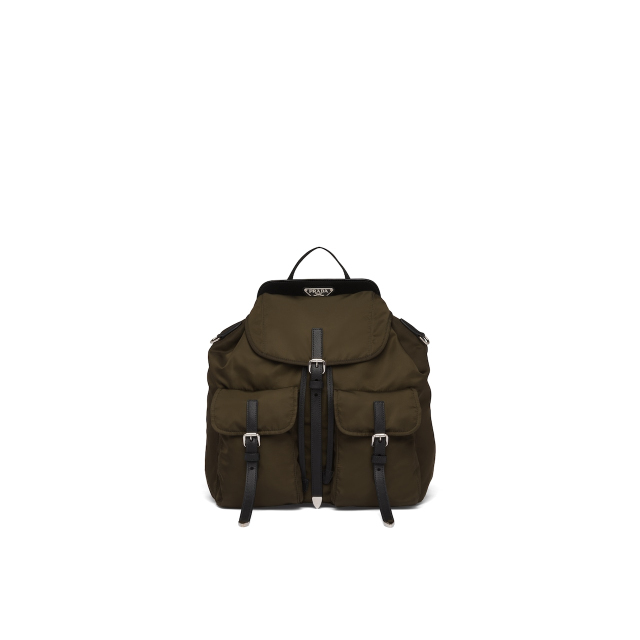 Prada Nylon and Saffiano leather backpack 1