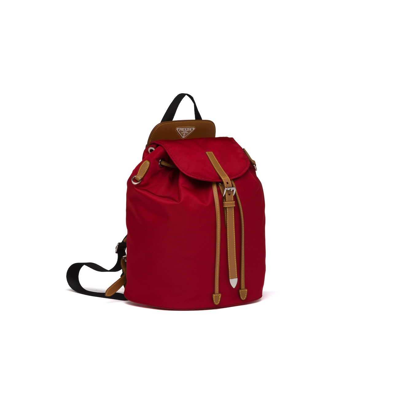 Prada Nylon and Saffiano leather backpack 3