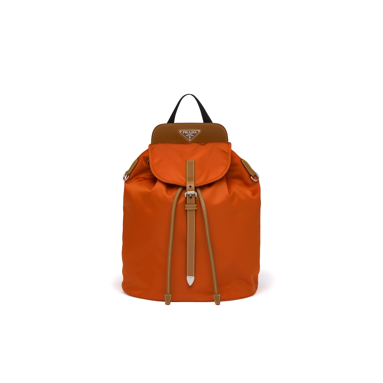 Prada Nylon and Saffiano leather backpack 1