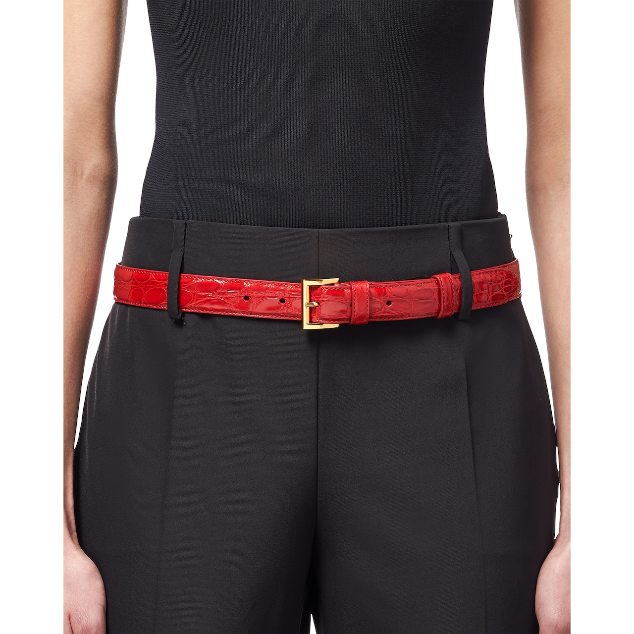 Prada Crocodile leather belt 2