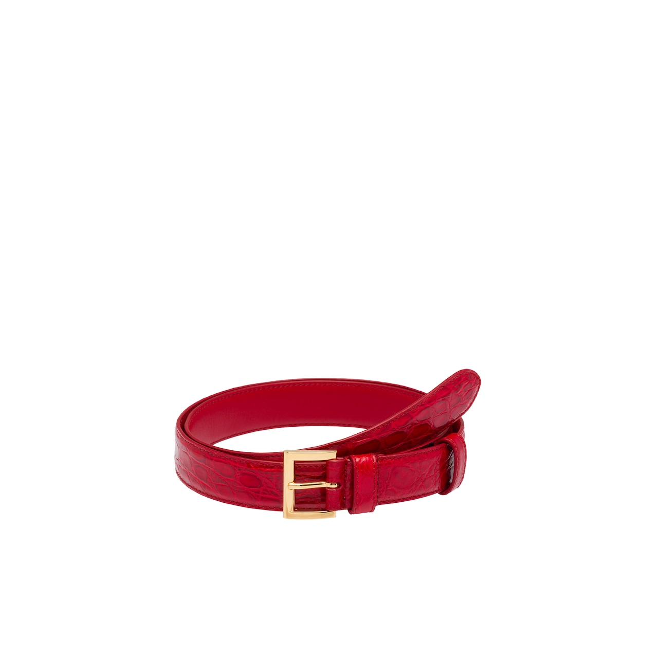 Prada Crocodile leather belt 1