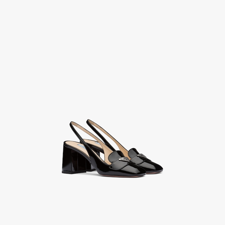 Prada Patent leather slingback loafers - Woman