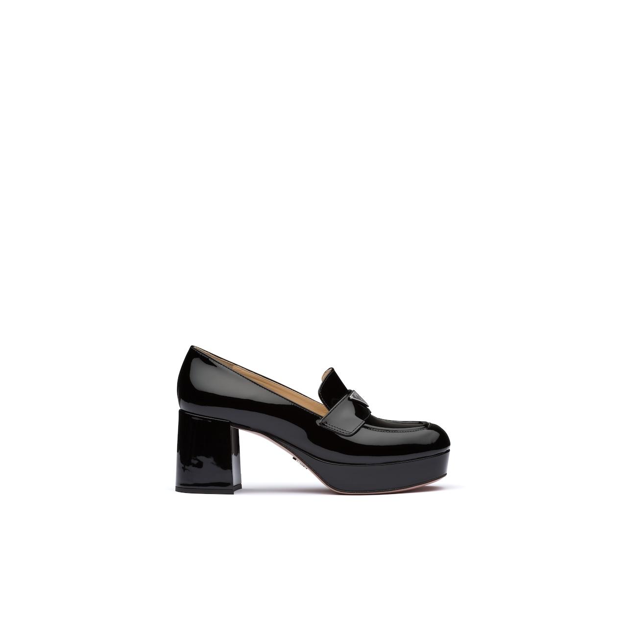Prada 漆皮厚底乐福鞋 2