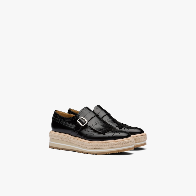Prada Brushed leather lace-up shoes - Woman
