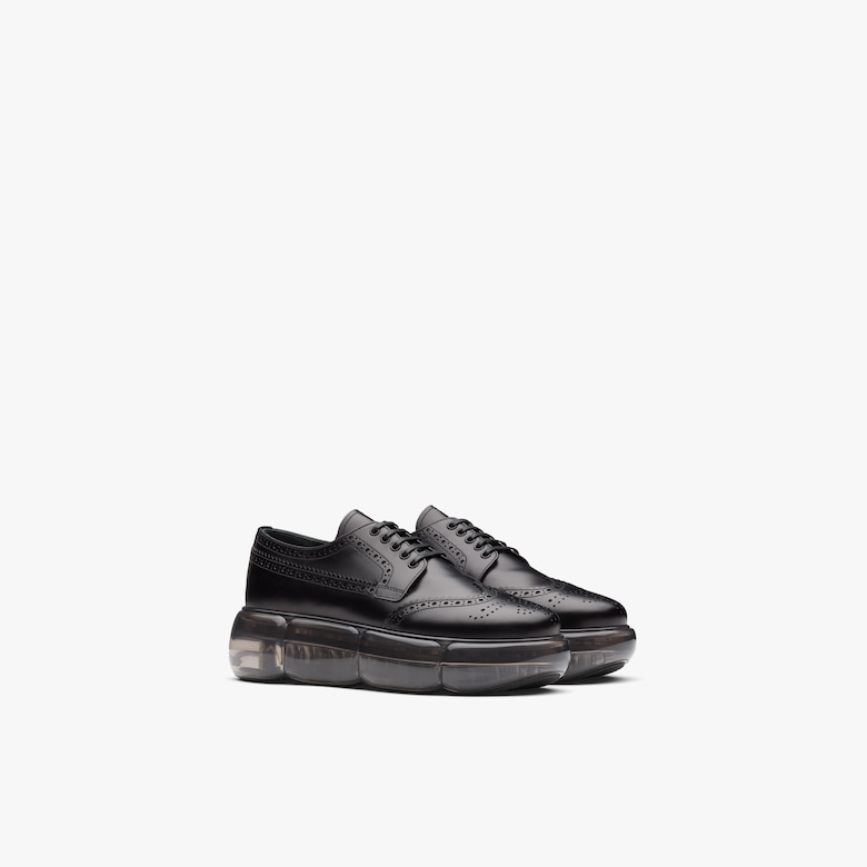 Prada Brushed leather derby shoes - Woman