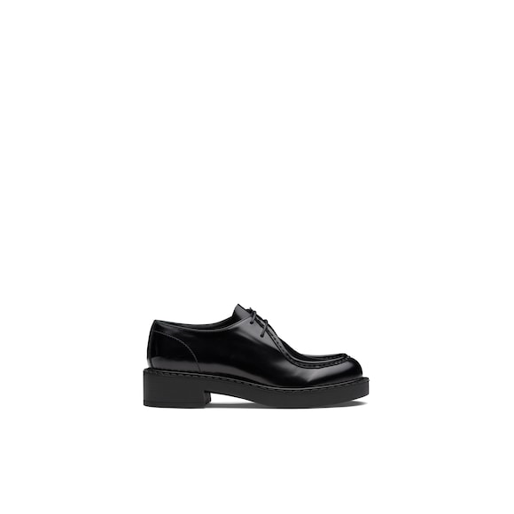 Prada Brushed leather laced derby shoes 2