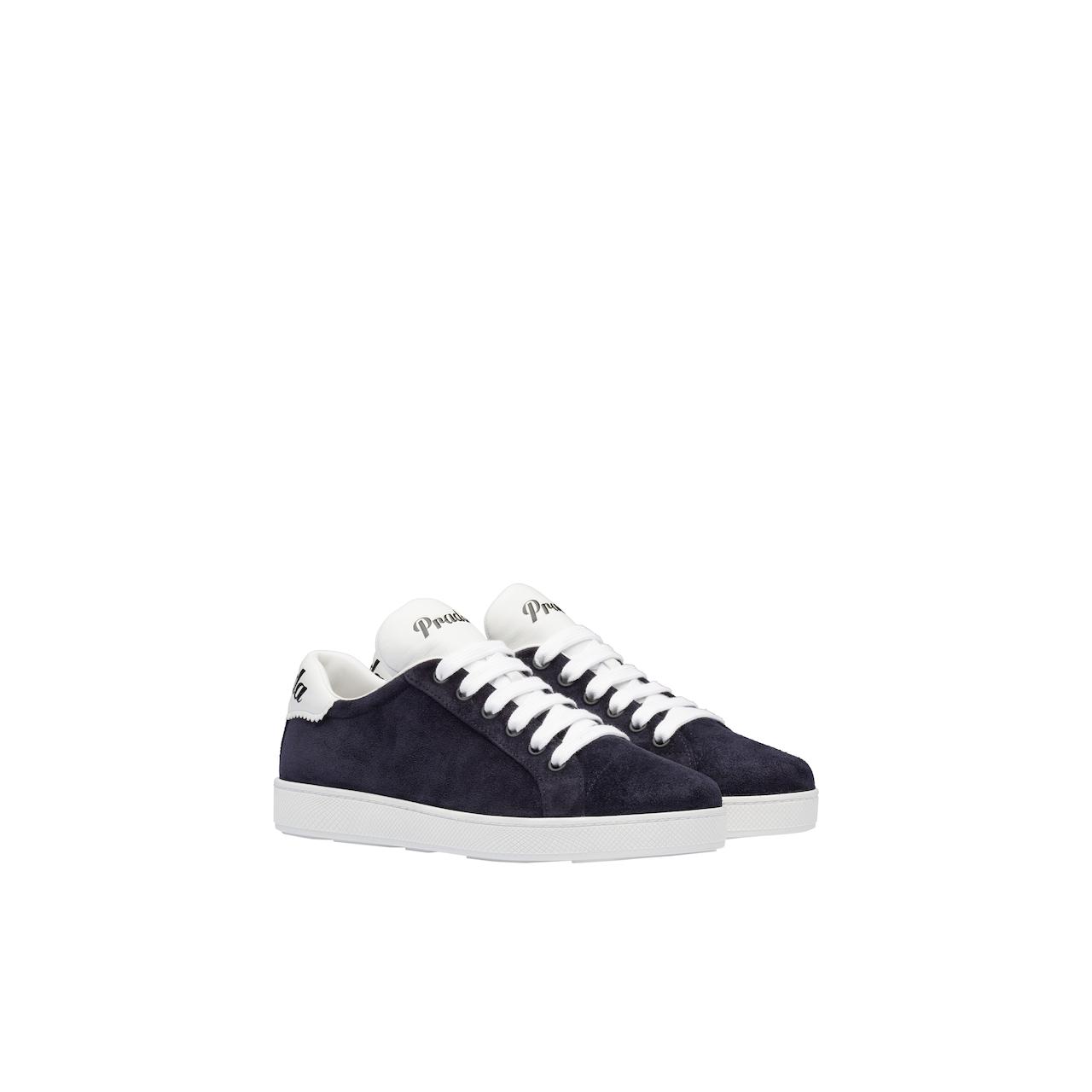 Prada 麂皮和软羊革运动鞋 1