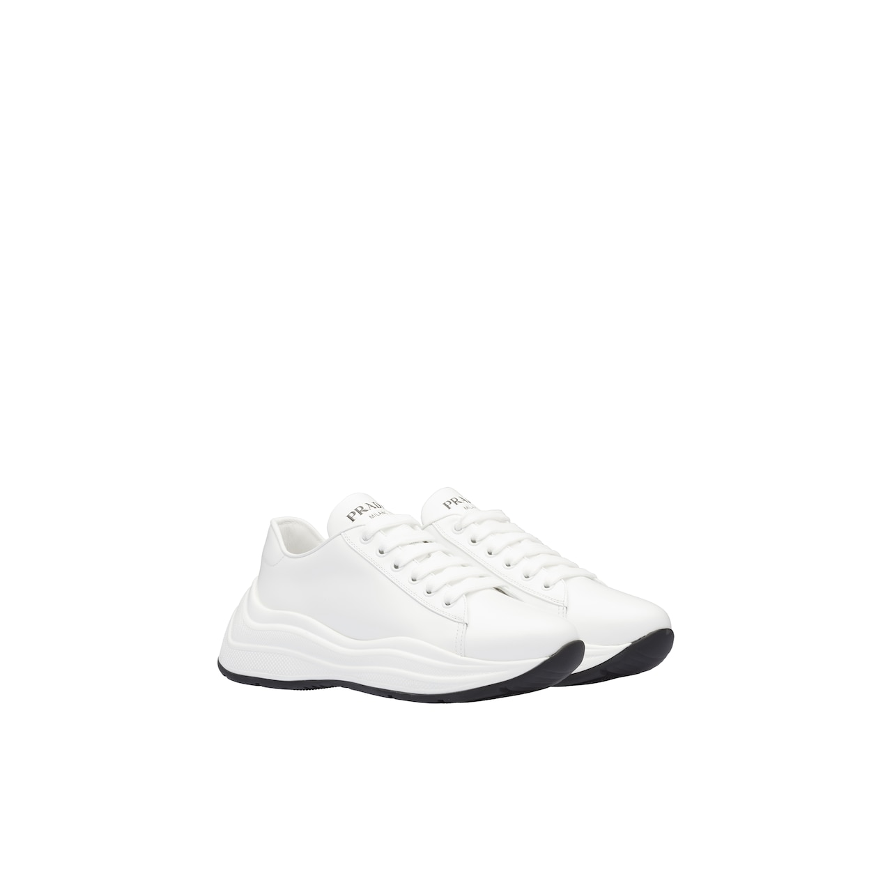 Prada Brushed leather sneakers 2